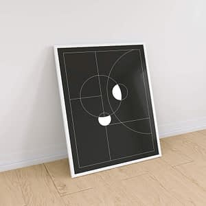 Minimal Black & White Circles - Scandinavische Print