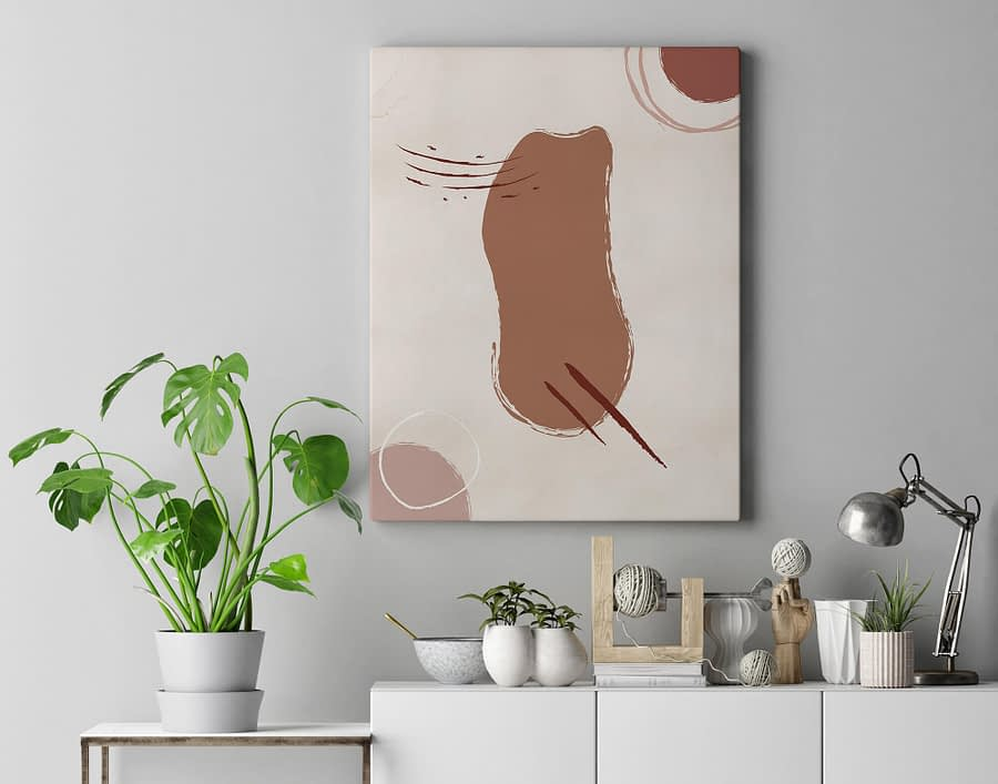 Abstract Shapes Poster en Canvas Print