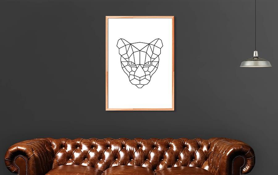 Geometrische Tijger Poster en Print