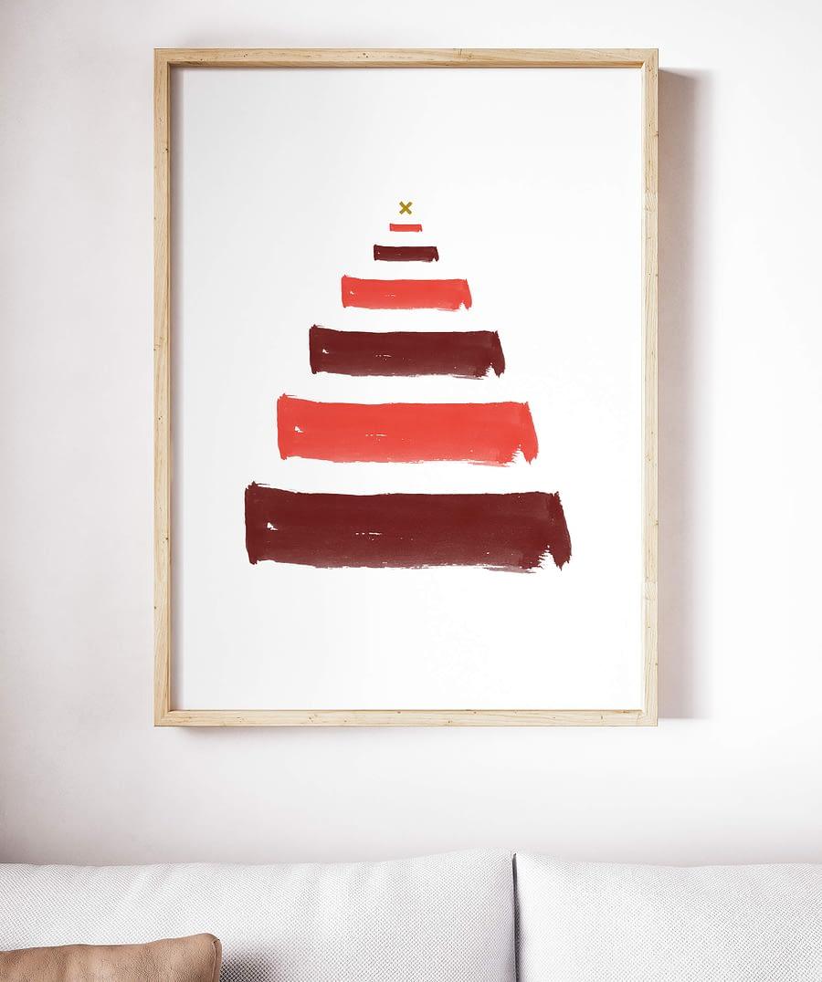 Kerst poster en canvas print