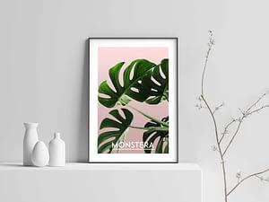 Monstera Poster en Print - Botanische Wanddecoratie