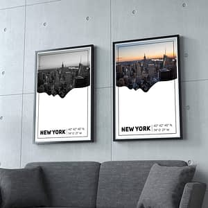 New York Silhouette Poster