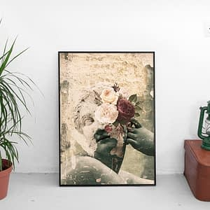 Frozen in Time - Surrealistische Poster en Canvas Print