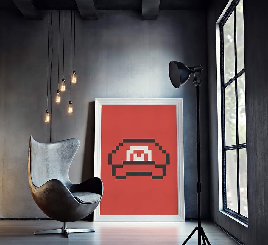 Mario's Hat - abstracte kunst