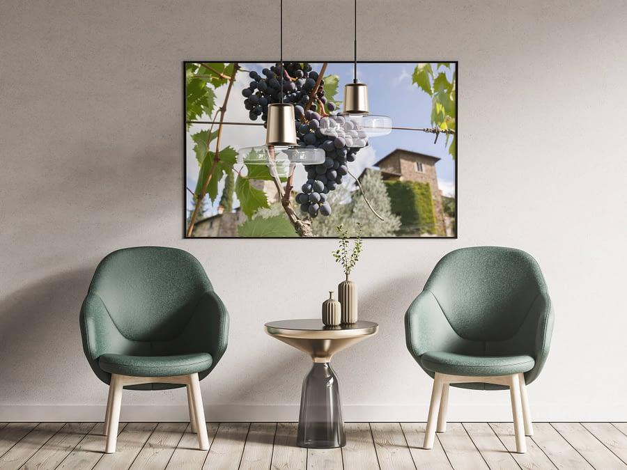 Tussen de Toscaanse Wijnranken Poster - Natuur Wanddecoratie