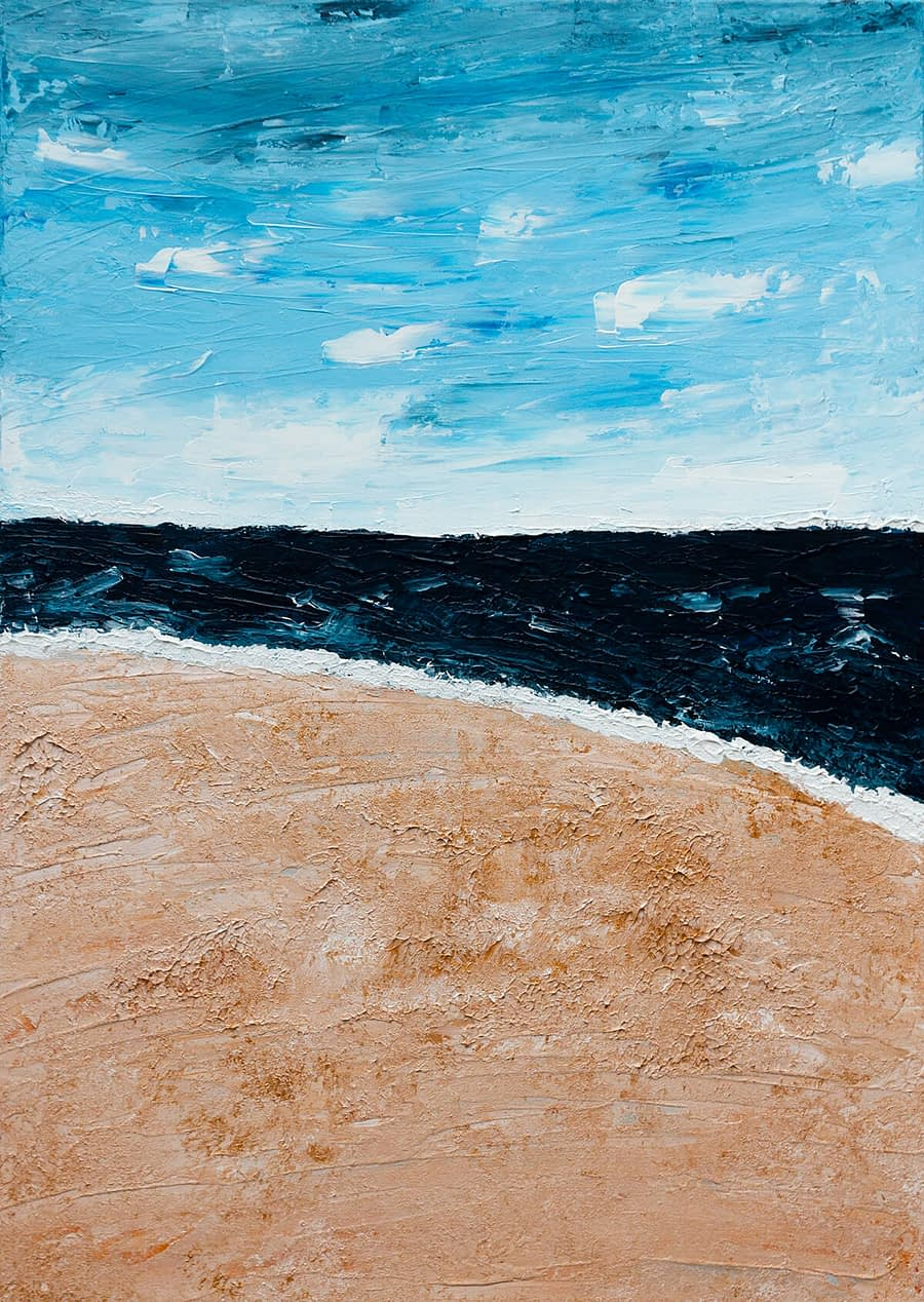 Take me to the beach - Abstract Kunstwerk