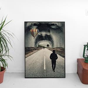Surrealistische Poster - Road To Somewhere - Surrealisme