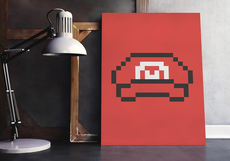 poster voor retro game liefhebbers