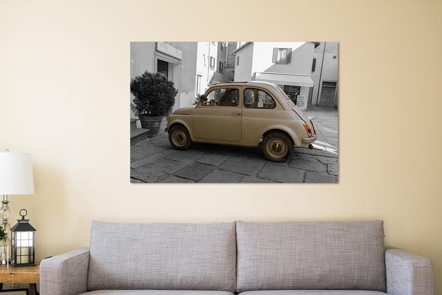 Fiat 500 Oldtimer Vintage Poster
