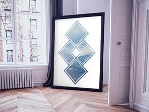 Geometrisch Landschap Scandinavische Poster