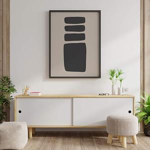 Beige Minimalism 02 - Minimalistische Poster en Print met Abstracte vormen