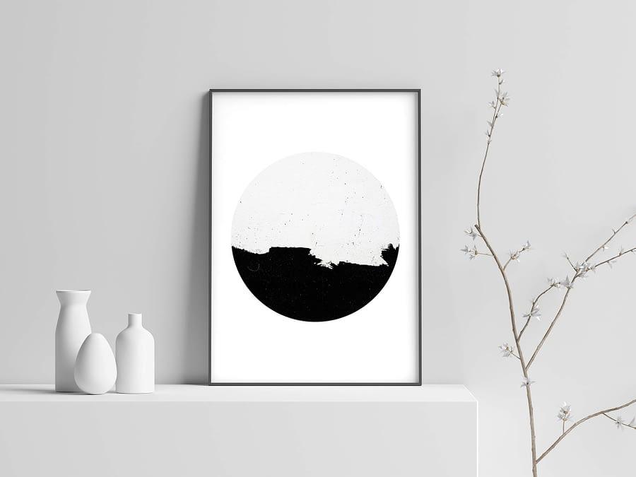 Minimal Circle - Minimalistische Poster en Canvas Print