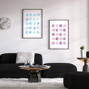 Watercolor Dots - Scandinavische Poster en Print
