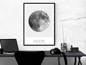 Minimalistische Maan Print