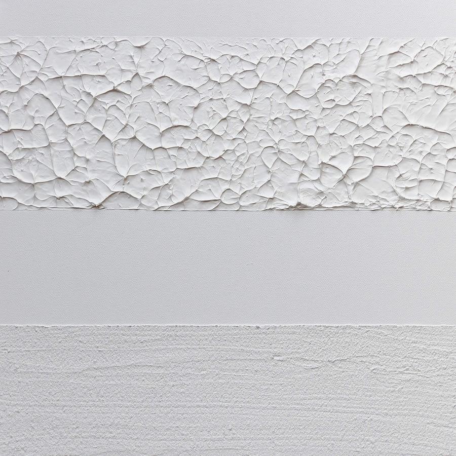 Wit minimalistisch handgeschilderd kunstwerk
