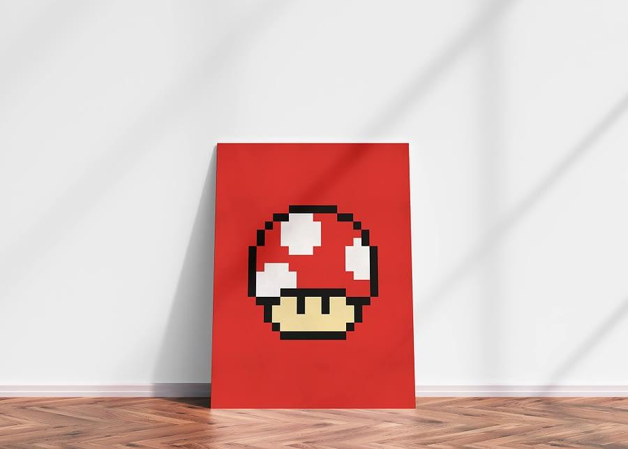 Mushroom pixel art - retro games