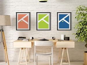 Tennisbaan Minimalistische Poster - Abstracte Wanddecoratie