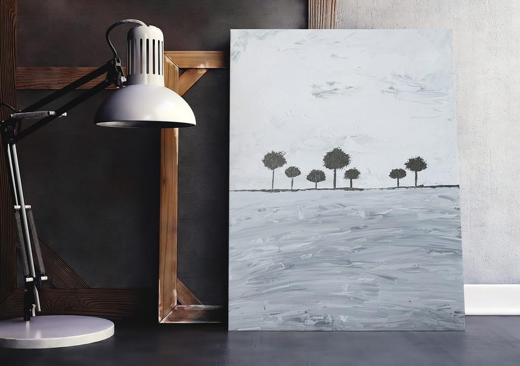 abstracte bomen schilderij