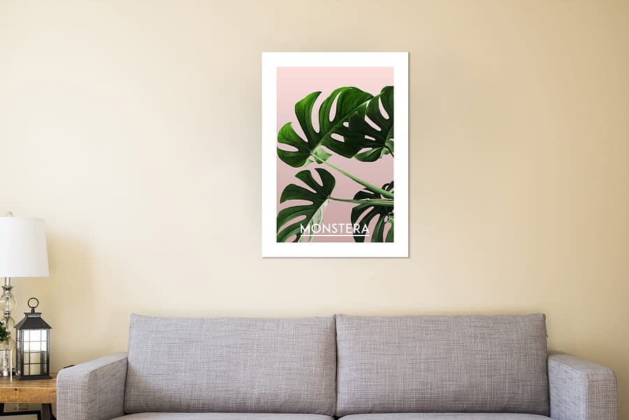 monstera Botanische Poster en Canvas Print