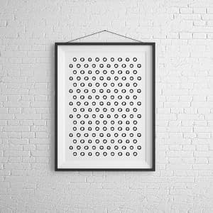 Abstract Cicles Abstracte Zwart-Wit Poster en Print