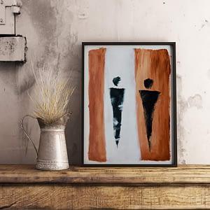 Abstracte Figuren - Fine Art Papier - Betaalbare, moderne kunst