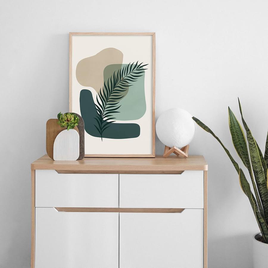 Abstracte Botanische Wanddecoratie