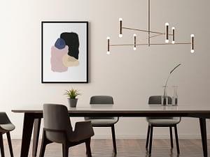 kleurrijke abstracte vormen - Abstracte, minimalistische poster en print in Scandinavische stijl