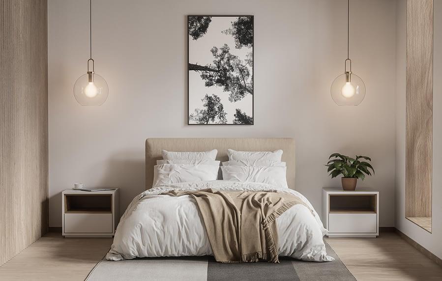 zwart-wit poster en print van bomen - natuur wanddecoratie