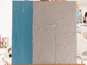 Blue and White Abstract Schilderij