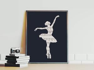 The Dancer - Ballerina danseres poster en canvas print