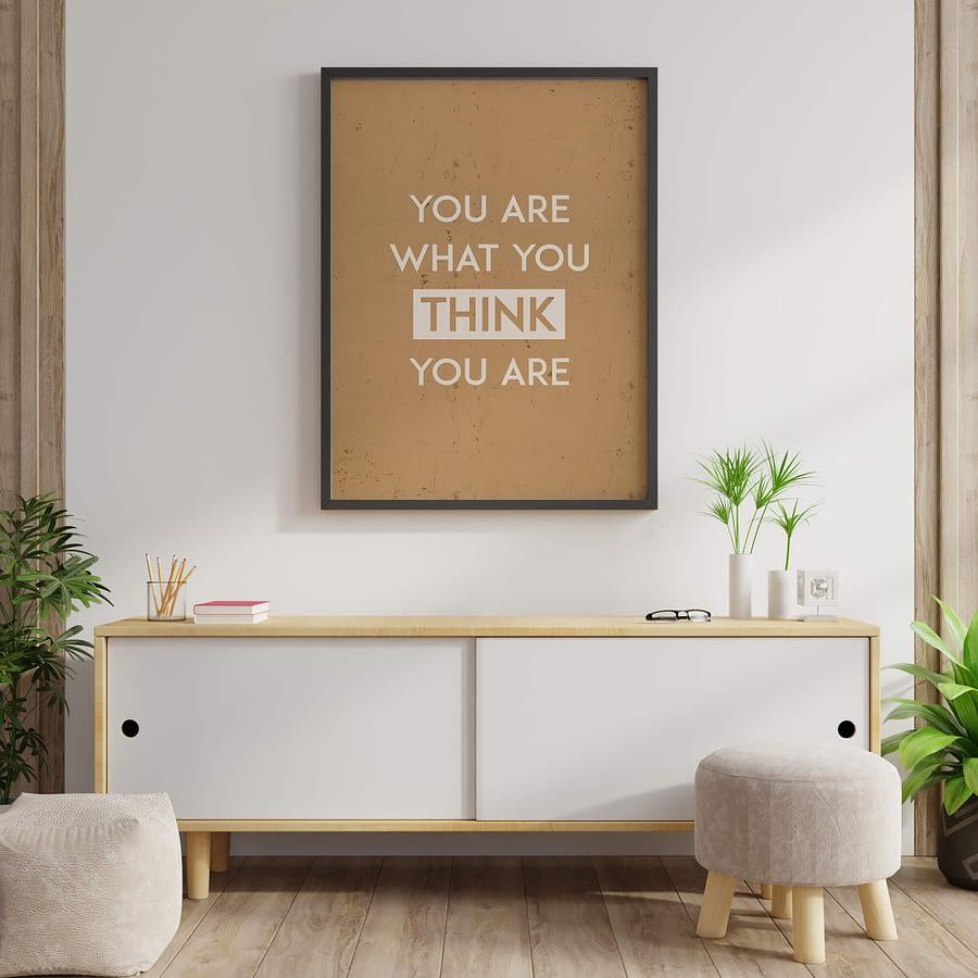 Moderne Wanddecoratie - Typografie poster
