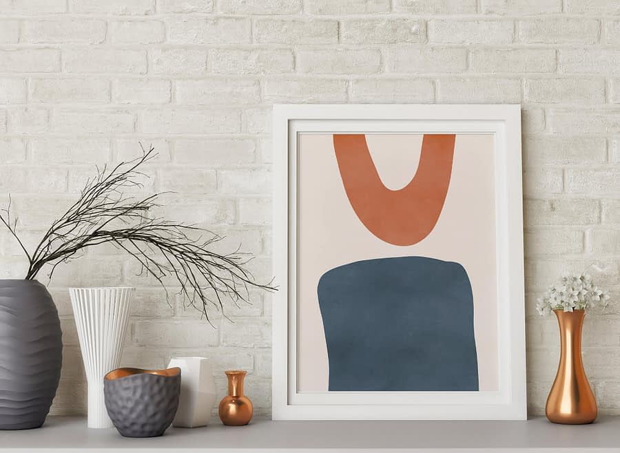 Shapes - Abstracte vormen minimalistische poster en print