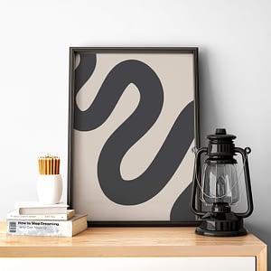 Curvy Line - Minimalistische poster en canvas print