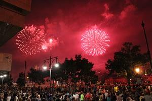 Boedapest St. Stephens Day vuurwerk