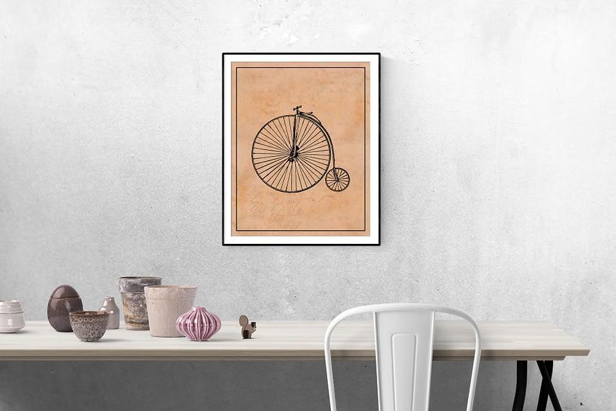 vintage fiets industriele wanddecoratie