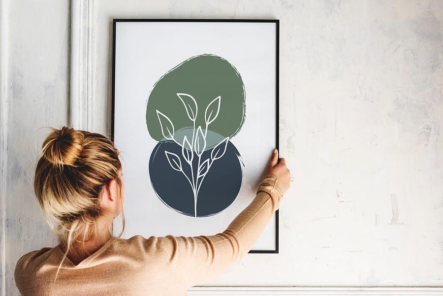 Botanische Poster met abstracte vormen