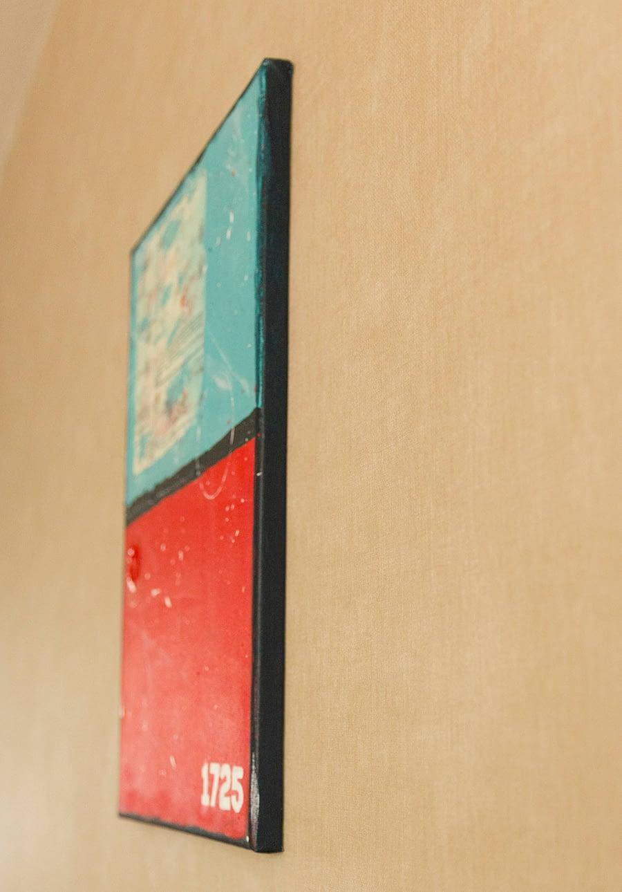 Zijkant schilderij
