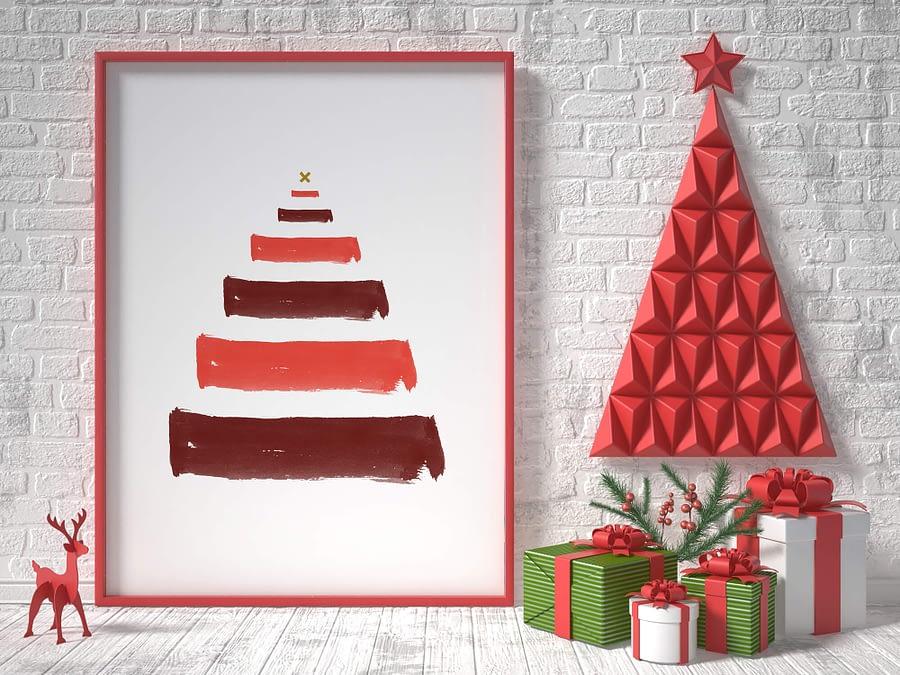 kerstboom poster en canvas print