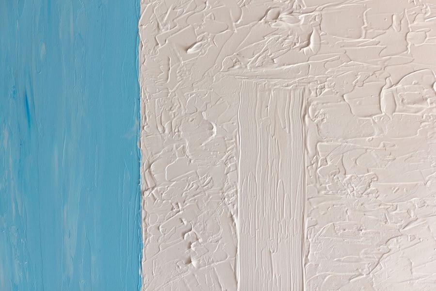 modern kunstwerk blauw en wit details