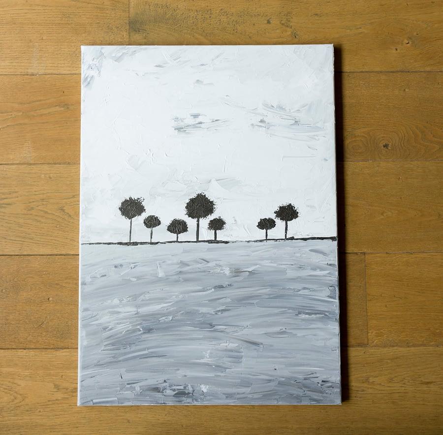 abstrac trees schilderij bomen