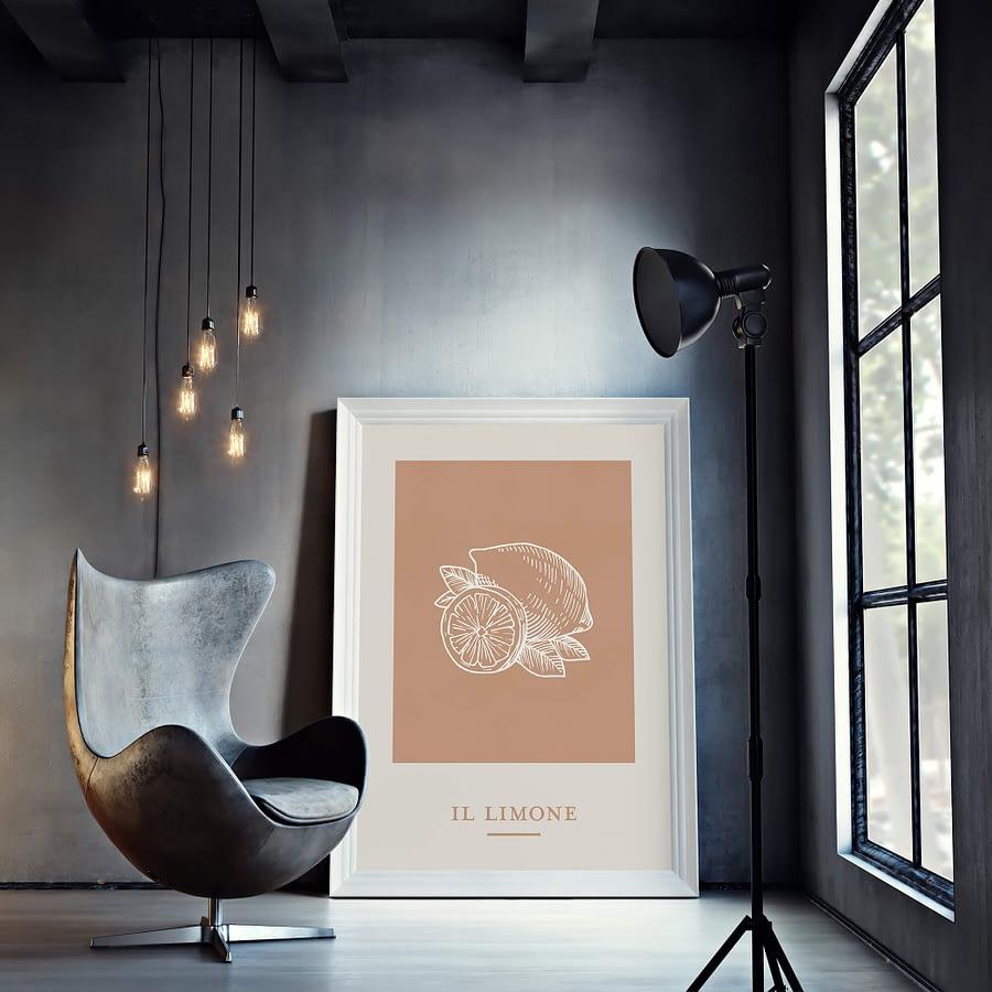 Il Limone - zomerse poster en canvas print met citroenen