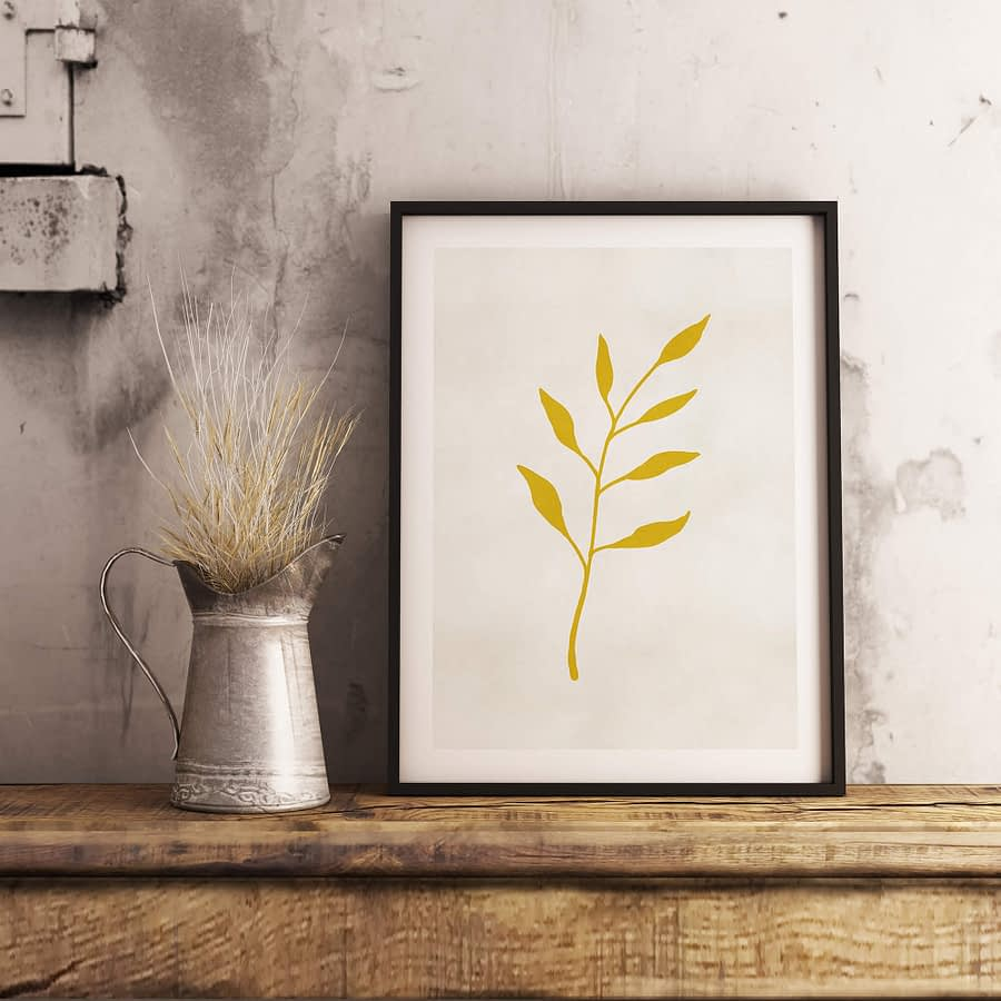 Gold Leaf Botanische Poster - Botanische Wanddecoratie