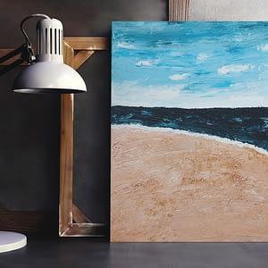 Modern schilderij strand