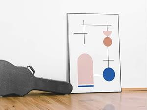 geometrische abstracte poster - Geometrie Wanddecoratie