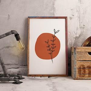 Terracotta Botanische Poster - Botansiche Wanddecoratie