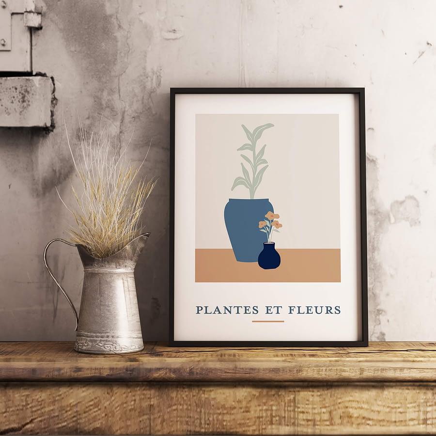 Plantes et Fleurs - landelijke poster en canvas print