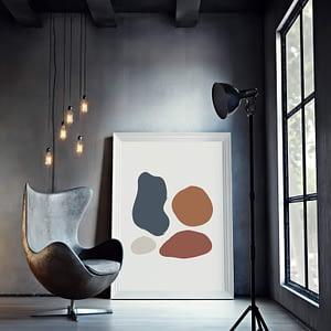Abstract Geometric Shapes - geometrische poster in Scandinavische stijl