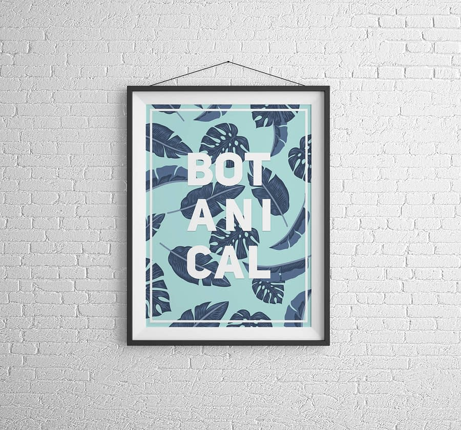 "Botanische ""Botanical"" Poster"