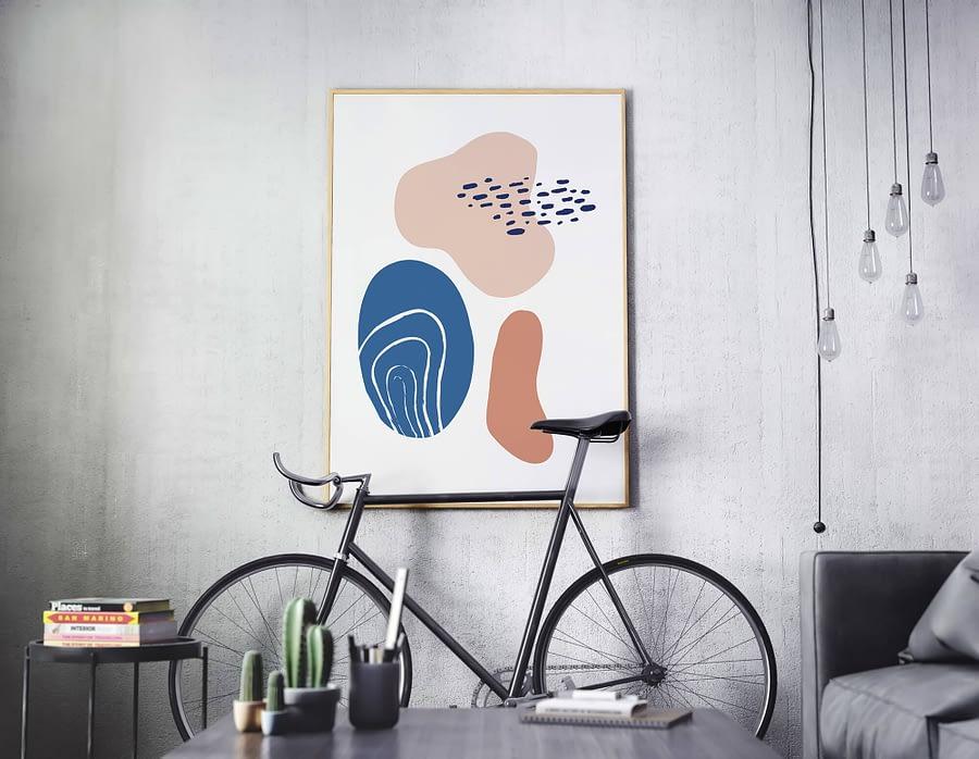 Abstracte vormen lente poster