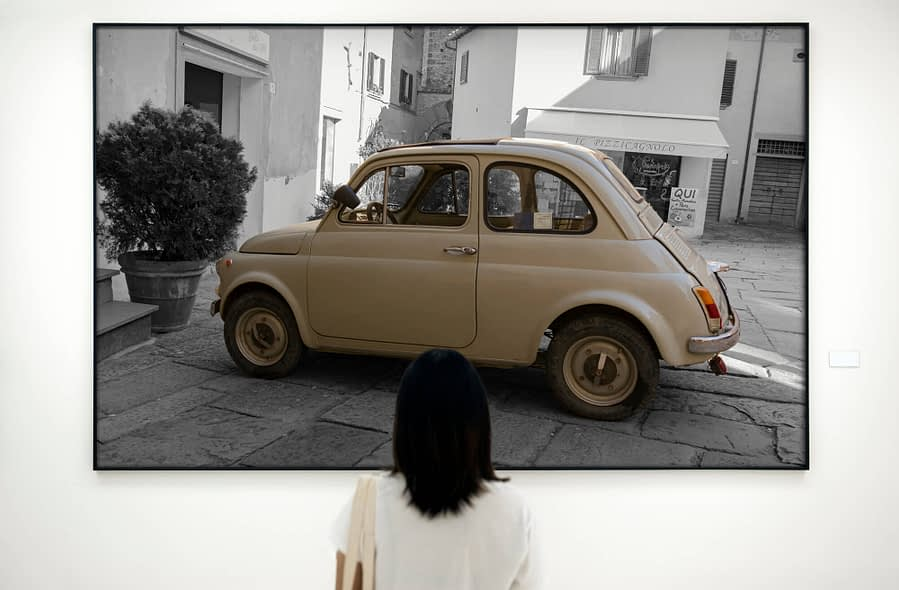 Fiat 500 Poster - Vintage Wanddecoratie